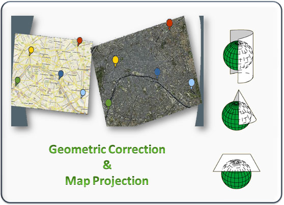 Satellite Images Geometric Correction and Map Projection Training Course & tutorial (Using ERDAS IMAGINE)