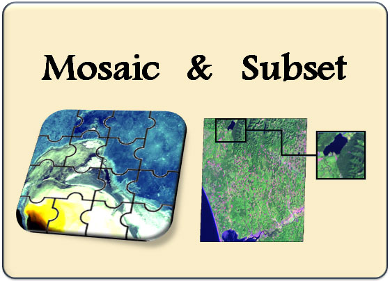Satellite Images Subseting and Mosaicking Online Training Course & tutorial (Using ERDAS IMAGINE)